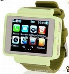 "K1 GSM Quadband Watch Mobile Phone, 1.8""Touch LCD, 0.3MP Camera, with Flashlight"