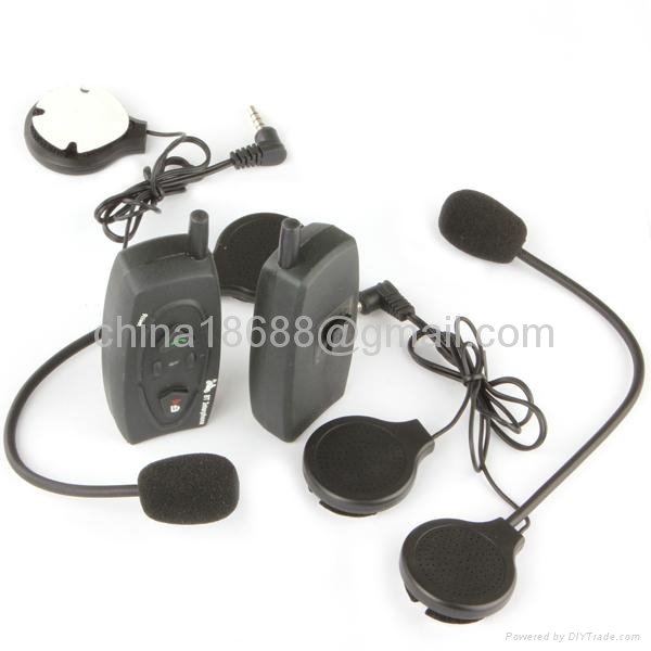 2 x BT 500M Bluetooth Interphone Motorcycle Helmet Headset Intercom 1