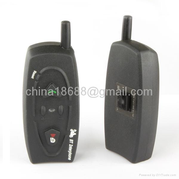2 x BT 500M Bluetooth Interphone Motorcycle Helmet Headset Intercom 2