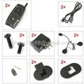 2 x BT 500M Bluetooth Interphone Motorcycle Helmet Headset Intercom 4