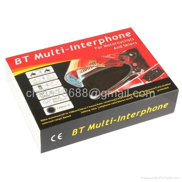 2 x BT 500M Bluetooth Interphone Motorcycle Helmet Headset Intercom 5