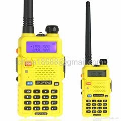 BaoFeng UV-5R Yellow Color 136-174 / 400-480 MHz Dual-Band 128CH Two Way Radio