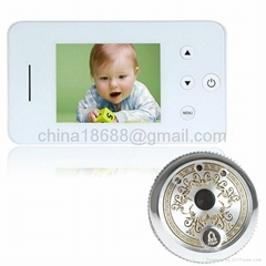 2.8 Inch LCD Ultra HD Electronic Peephole Viewer & Video Door Bell with Photogra