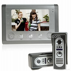 7 Inch Home Security Video Doorbell Intercom with 2 Cameras + 1 Monitor Owns Nig