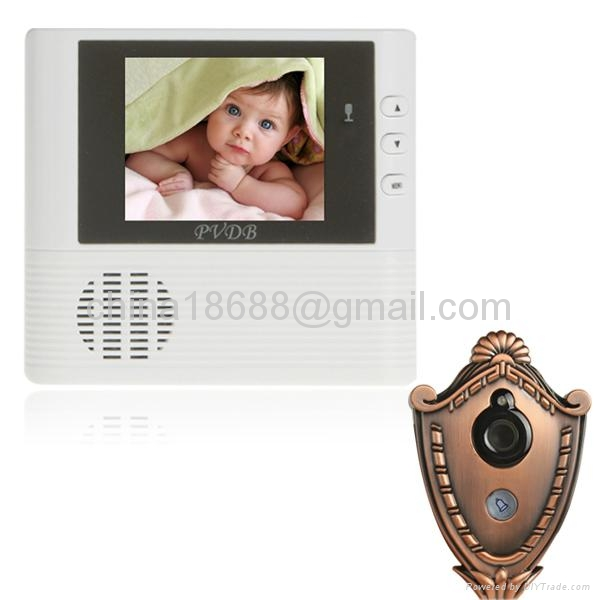 Wireless 3.0 Inch LCD HD Home Security Peephole Viewer + Video Door Phone with P 1