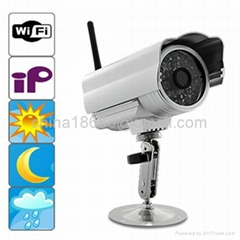 Waterproof Network Wireless Camera with WiFi + IR Cut-Off Filter + Night Vision