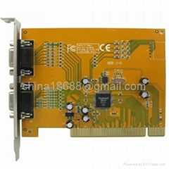 4 Channel 2 Real Time CCTV DVR Recorder Card