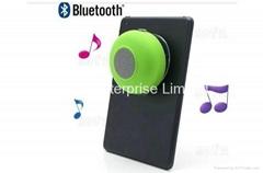 Waterproof bluetooth speaker with wall sucker base