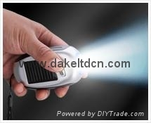 Solar Mini Dynamo Flashlight