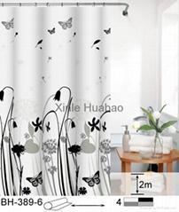 Flower printing Wholesale PEVA Shower Curtains For Bathroom