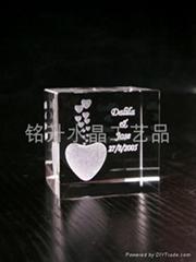 深圳水晶礼品定做、水晶内雕、亚运会礼品定做