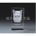 广东水晶礼品供应商、水晶内雕纪念品、水晶内雕奖杯奖牌 1