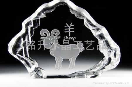 韶關水晶內雕禮品定做、上海世博會紀念品定製、水晶批發 1