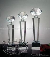 深圳现货水晶奖杯定做