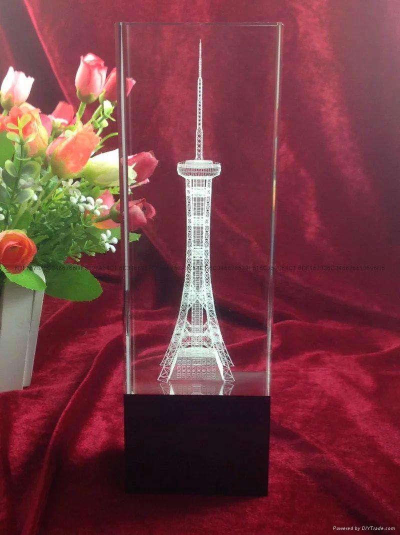 水晶內雕立體模型紀念品 1