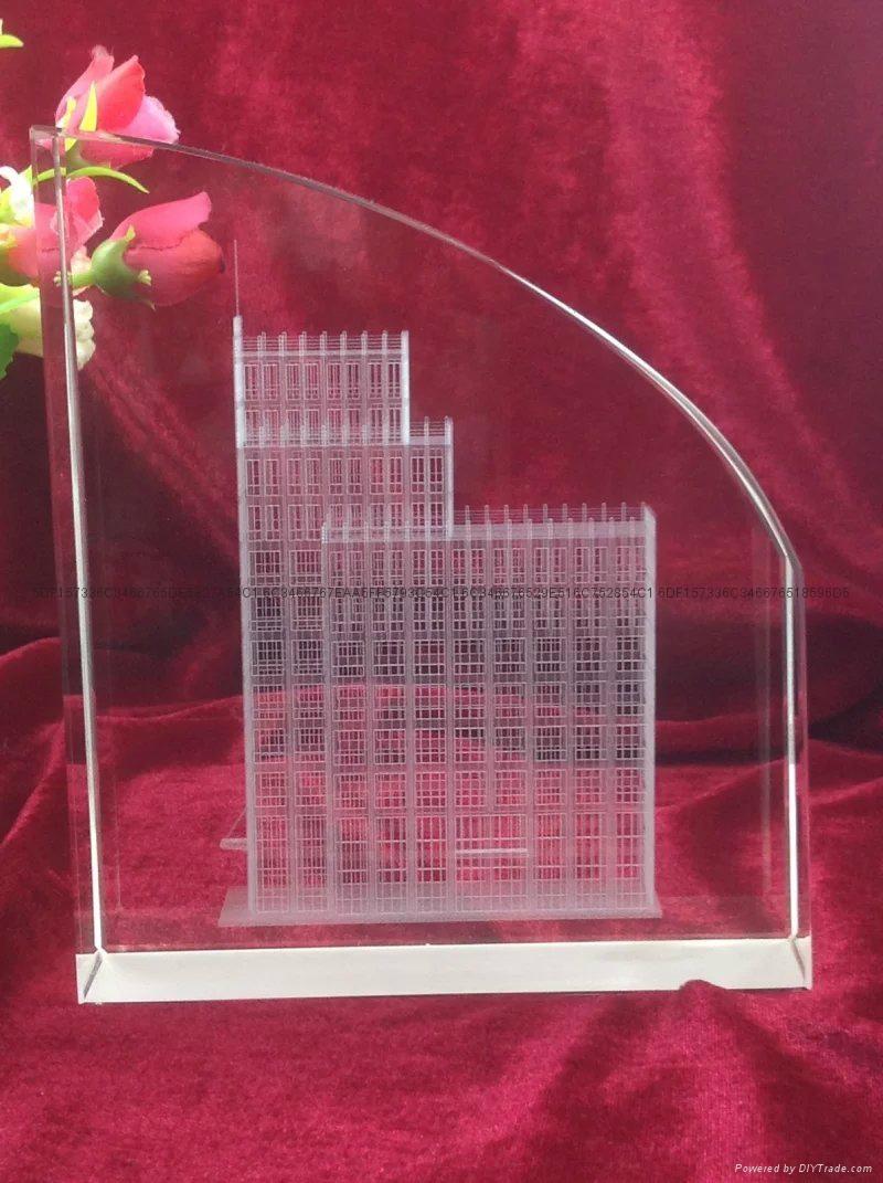水晶內雕立體模型紀念品 3