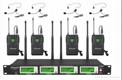 G-787 True diversity 4*100 channel UHF wireless Bodypack microphone (1 set)