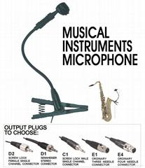 M-20 gooseneck instrument microphone in D1 plug