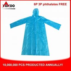 Promotional PE Disposable Raincoat, Adult Pocket Raincoat for South Korea