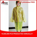 Promotional PE Disposable Raincoat, Adult Pocket Raincoat for South Korea