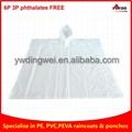 Reusable EVA rain ponchos