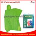 110g Yellow PEVA rain poncho for festival