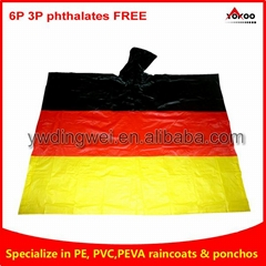 Germany Flag PVC Ponchos for football matches