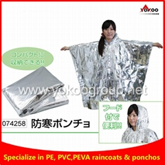 emergency thermal Poncho for Natural disasters