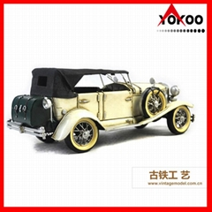 Antique Metal Car Model for Shop Decoration