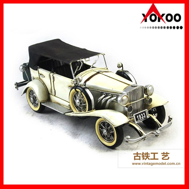 Antique Metal Car Model for Shop Decoration 6