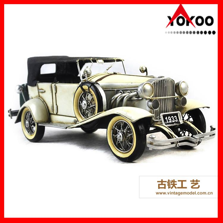 Antique Metal Car Model for Shop Decoration 7