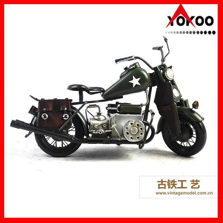 Vintage Metal Motorcycle Model 1