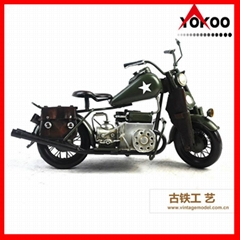 Vintage Metal Motorcycle Model