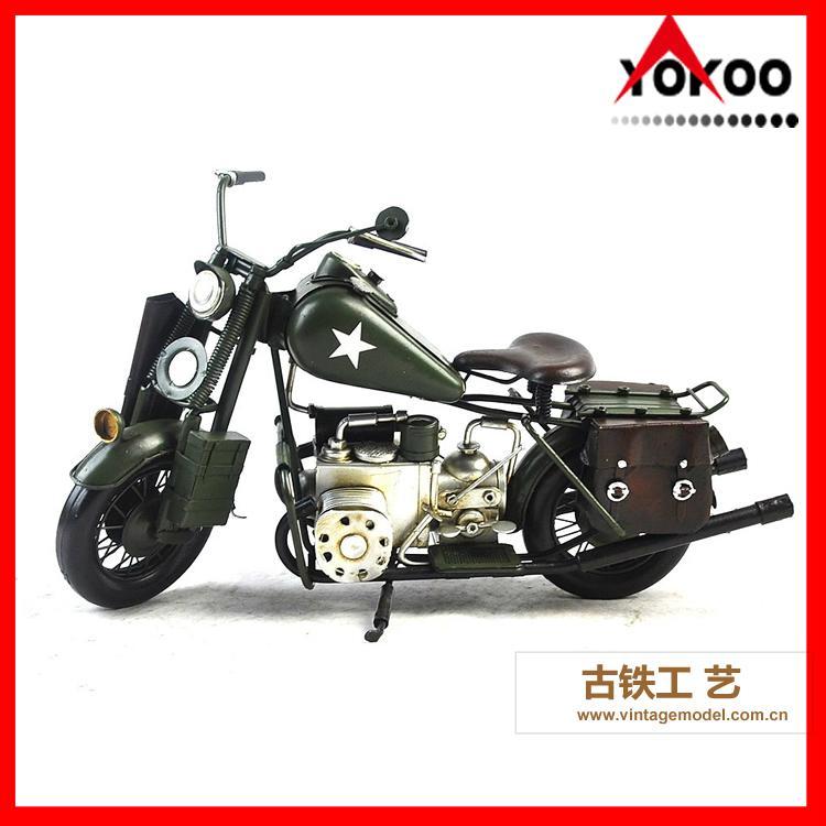 Vintage Metal Motorcycle Model 6