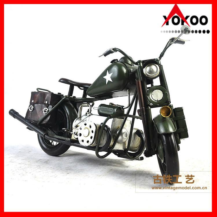Vintage Metal Motorcycle Model 3