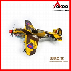 Handmade Metal Airplane Model for home decoration
