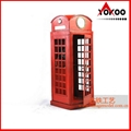 Handmade antique metal decoration (1920 RED LONDON TELEPHONE BOOTH)