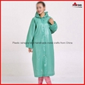 Cheap PEVA long disposable raincoat with sleeves for promotion