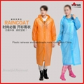 Cheap PEVA long disposable raincoat with