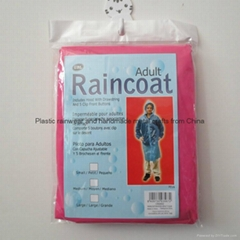 Promotional emergency PEVA long raincoat with sleeves for outdoor events