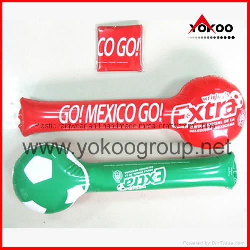0.06mm PE inflatable thunder sticks for promotion 6