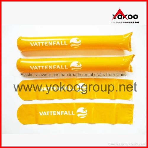 0.06mm PE inflatable thunder sticks for promotion 9