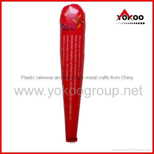 0.06mm PE inflatable thunder sticks for promotion 10