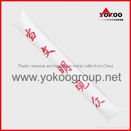 0.06mm PE inflatable thunder sticks for promotion 11