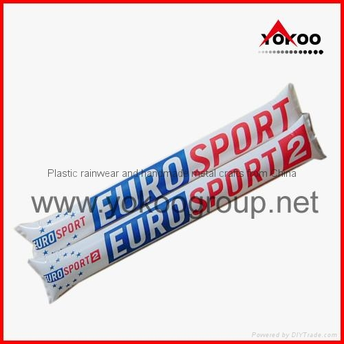 0.06mm PE inflatable thunder sticks for promotion 12