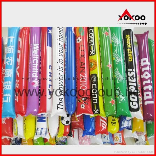0.06mm PE inflatable thunder sticks for promotion 13