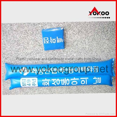 0.06mm PE inflatable thunder sticks for promotion 15