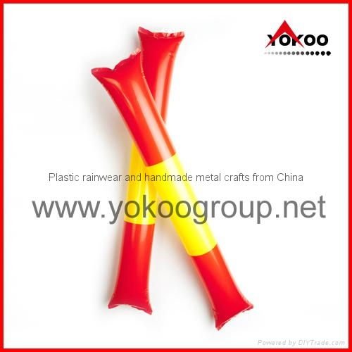 0.06mm PE inflatable thunder sticks for promotion 16