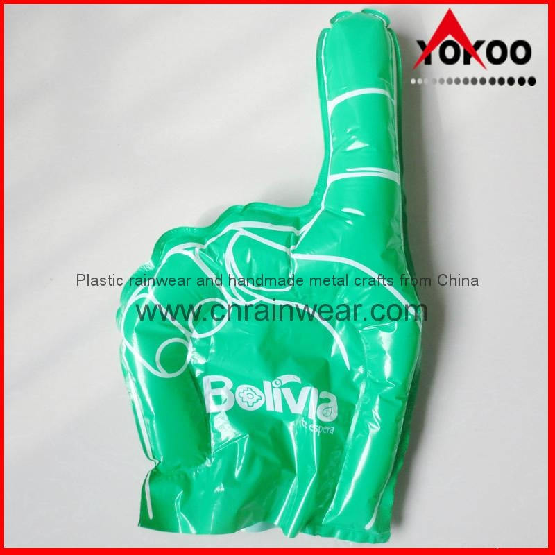 PE Inflatable Customized Cheering Hands for Promotion 3