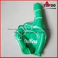 PE Inflatable Customized Cheering Hands for Promotion 5